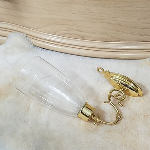 Brass and Glass Wall Sconce
